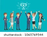 the success of one team... | Shutterstock .eps vector #1065769544