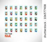 pixel adult vector icon design | Shutterstock .eps vector #106577408