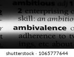 Small photo of ambivalence word in a dictionary. ambivalence concept.