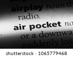 Small photo of air pocket word in a dictionary. air pocket concept.