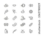 eye lens related icons  thin... | Shutterstock .eps vector #1065780029