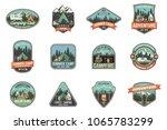 set of summer camp badges.... | Shutterstock .eps vector #1065783299