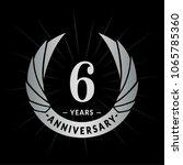 6 years anniversary. elegant... | Shutterstock .eps vector #1065785360