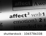 Small photo of affect verb word in a dictionary. affect verb concept.