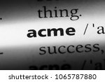 Small photo of acme word in a dictionary. acme concept.