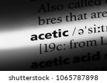 Small photo of acetic word in a dictionary. acetic concept.