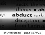 Small photo of abduct word in a dictionary. abduct concept.