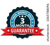 3 month money back illustration   Shutterstock .eps vector #1065788096