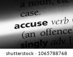 Small photo of accuse word in a dictionary. accuse concept.