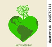 earth day background concept.... | Shutterstock .eps vector #1065797588