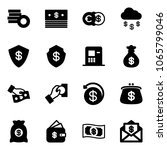 solid vector icon set   coin... | Shutterstock .eps vector #1065799046