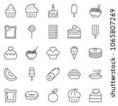 thin line icon set   sausage... | Shutterstock .eps vector #1065807269