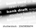 bank draft word in a dictionary.... | Shutterstock . vector #1065808694