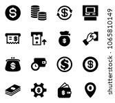 solid vector icon set   dollar... | Shutterstock .eps vector #1065810149