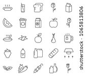thin line icon set  ... | Shutterstock .eps vector #1065813806