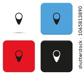 map pin flat vector icon.