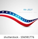 american flag 4th july american ... | Shutterstock .eps vector #106581776