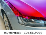 pasting of car carbonic plastic ... | Shutterstock . vector #1065819089