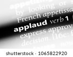 applaud word in a dictionary.... | Shutterstock . vector #1065822920