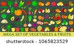 mega set of fresh vegetables...   Shutterstock .eps vector #1065823529