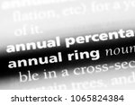 Small photo of annual ring word in a dictionary. annual ring concept.