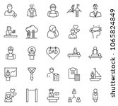 thin line icon set   tie vector ... | Shutterstock .eps vector #1065824849