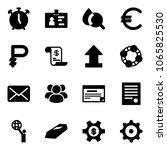 solid vector icon set   alarm... | Shutterstock .eps vector #1065825530