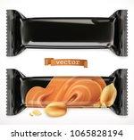 black polymer packaging for... | Shutterstock .eps vector #1065828194