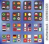 vector flags of the country.... | Shutterstock .eps vector #1065831320