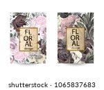floral background. cover with... | Shutterstock .eps vector #1065837683