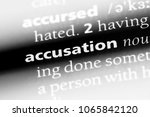 Small photo of accusation word in a dictionary. accusation concept.
