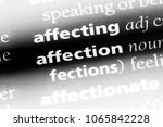 affection word in a dictionary. ... | Shutterstock . vector #1065842228