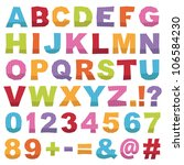 cut out alphabet shapes with... | Shutterstock .eps vector #106584230