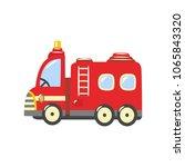 fire truck  emergency vehicle... | Shutterstock .eps vector #1065843320