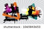 disco festival  vector... | Shutterstock .eps vector #1065843653