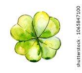 wildflower clover. floral...   Shutterstock . vector #1065847100