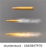 flying bullet with dust trail.... | Shutterstock .eps vector #1065847970
