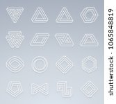 set of impossible shapes.... | Shutterstock .eps vector #1065848819