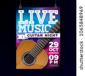 live music flyer design with... | Shutterstock .eps vector #1065848969