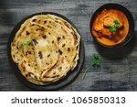 homemade kerala wheat paratha...   Shutterstock . vector #1065850313