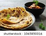 homemade layered paratha  ... | Shutterstock . vector #1065850316