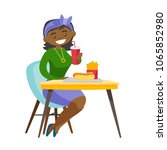 young african american woman... | Shutterstock .eps vector #1065852980