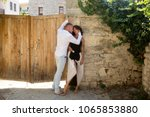 sensual couple hiding out of... | Shutterstock . vector #1065853880