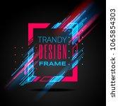 vector modern frame with... | Shutterstock .eps vector #1065854303