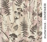 seamless pattern with plants.... | Shutterstock .eps vector #1065856838