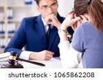 lawyer talking to his client in ...   Shutterstock . vector #1065862208