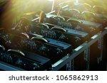 bitcoin ethereum miner.mining... | Shutterstock . vector #1065862913