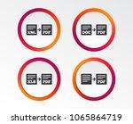 export file icons. convert doc... | Shutterstock .eps vector #1065864719