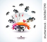 vector illustration on a casino ... | Shutterstock .eps vector #1065867290