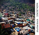view of the favela rocinha  rio ... | Shutterstock . vector #1065874094